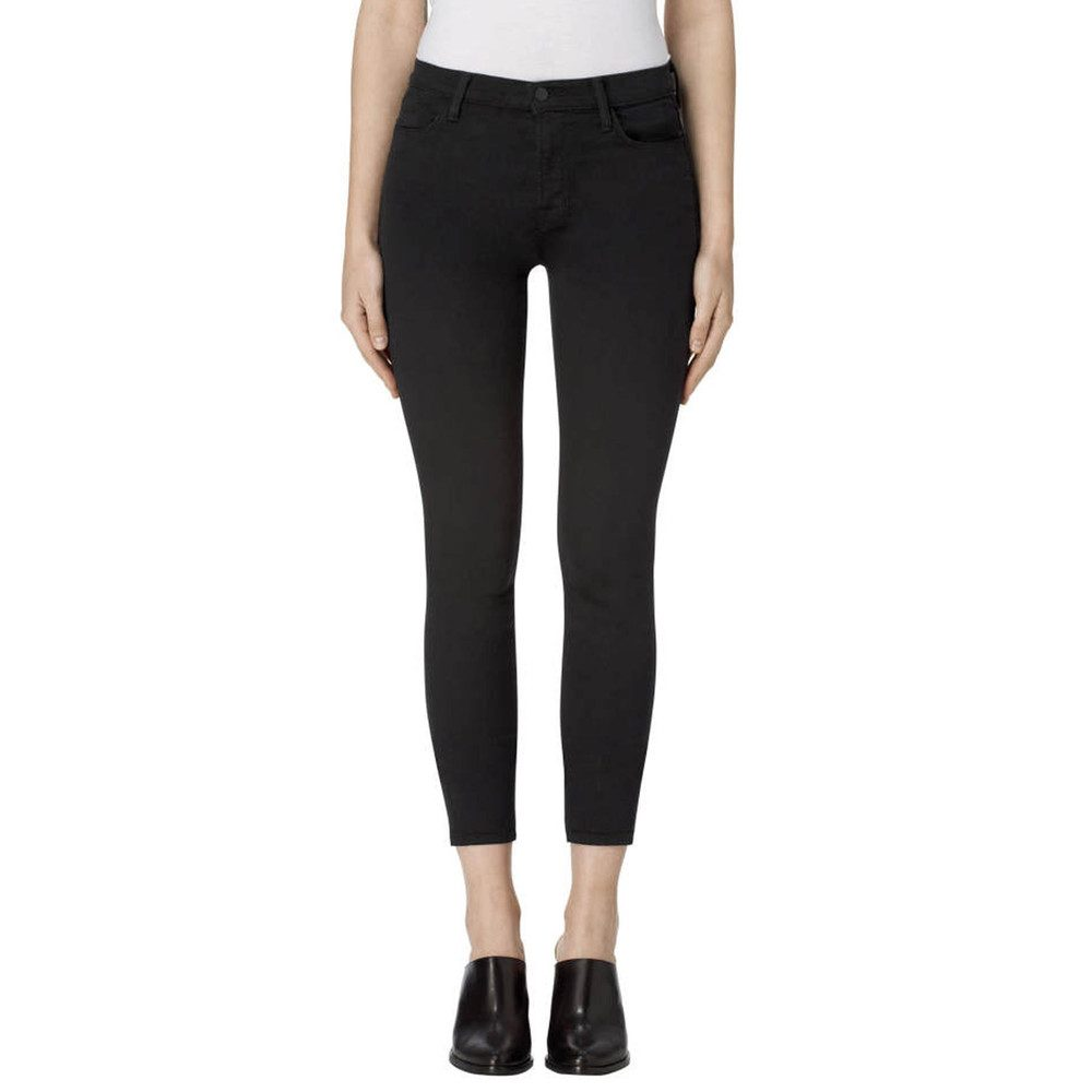 Alana High Rise Cropped Super Skinny Jeans - Seriously Black