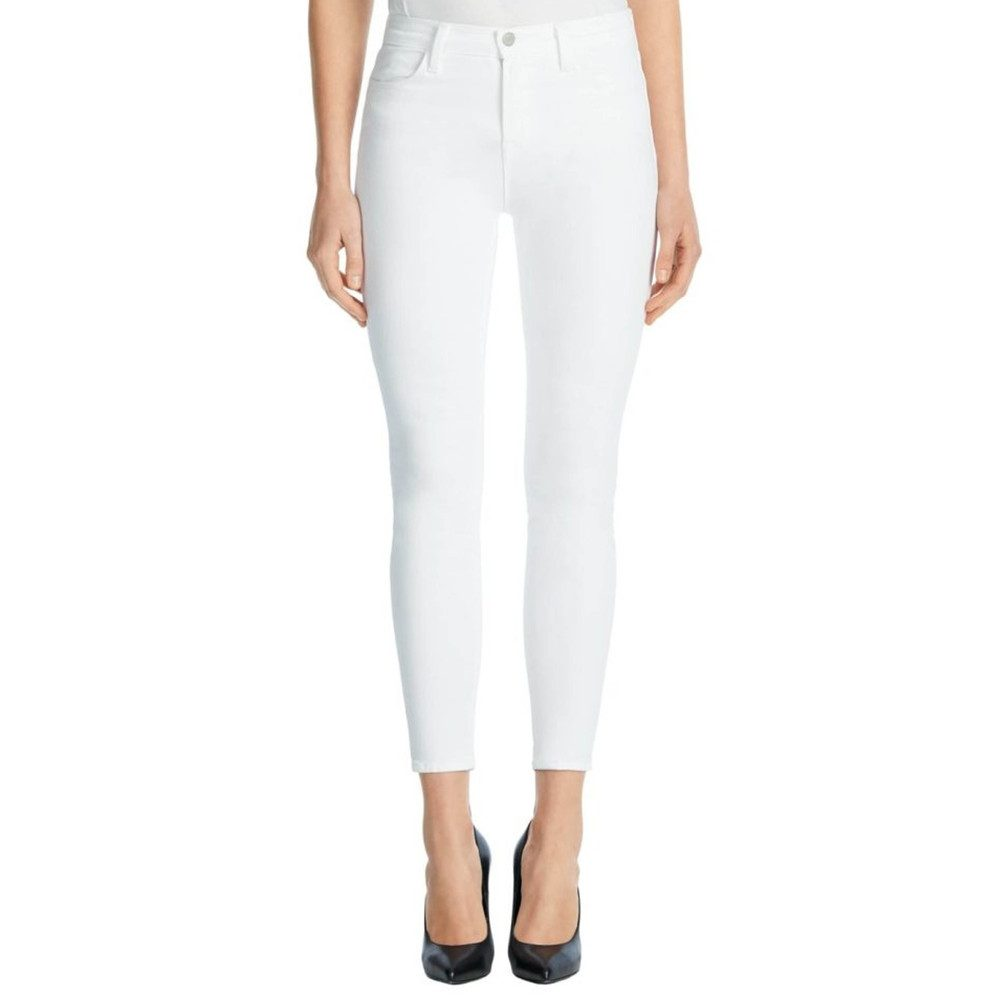 Alana High Rise Cropped Super Skinny Jeans - White