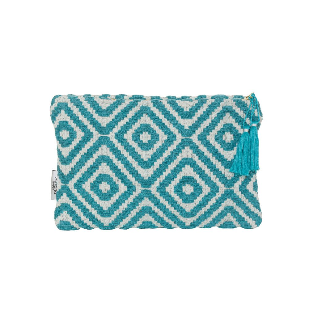 Small Pouch - Turquoise Diamond