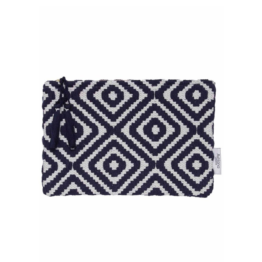 Small Pouch - Navy Diamond