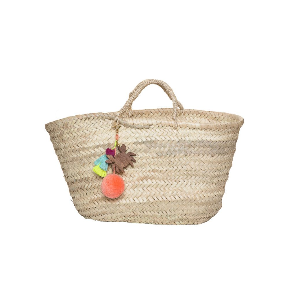 Straw Basket - Multi Crab