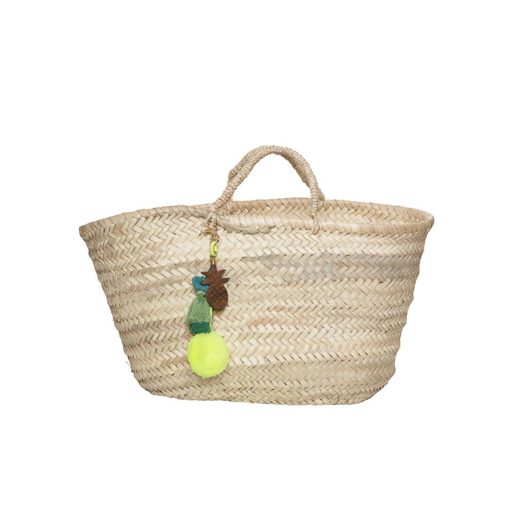 Straw Basket - Yellow Pineapple