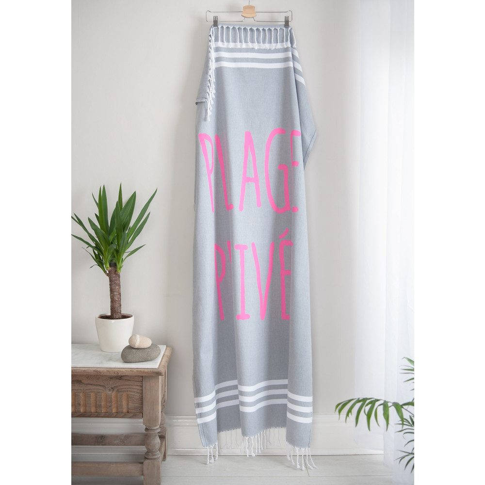 Esra Plage Prive Towel - Smoke Grey