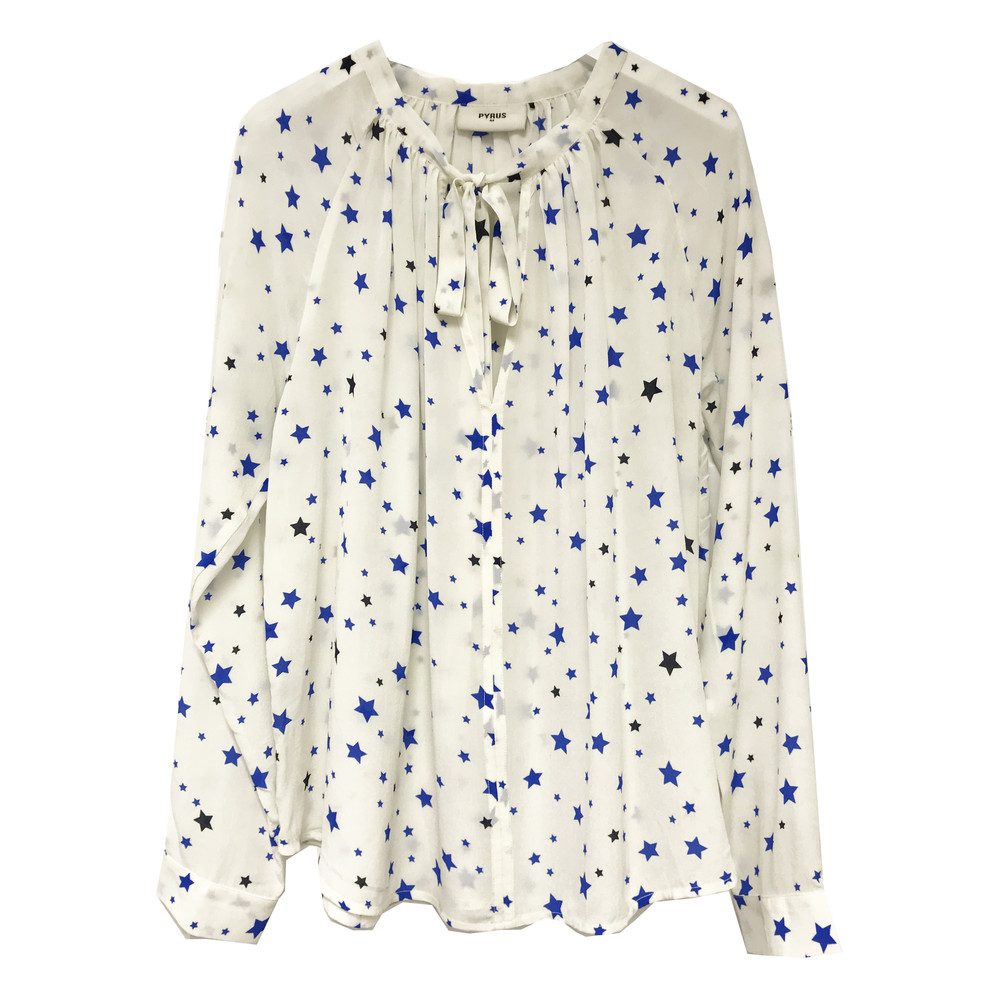 Annie Long Sleeve Blouse - Stars Cobalt