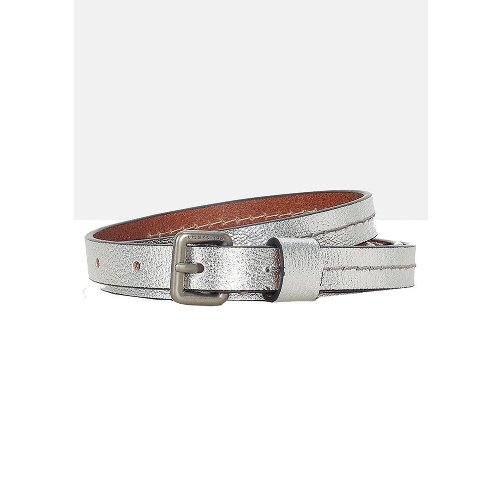 Zita Metallic Belt - Silver