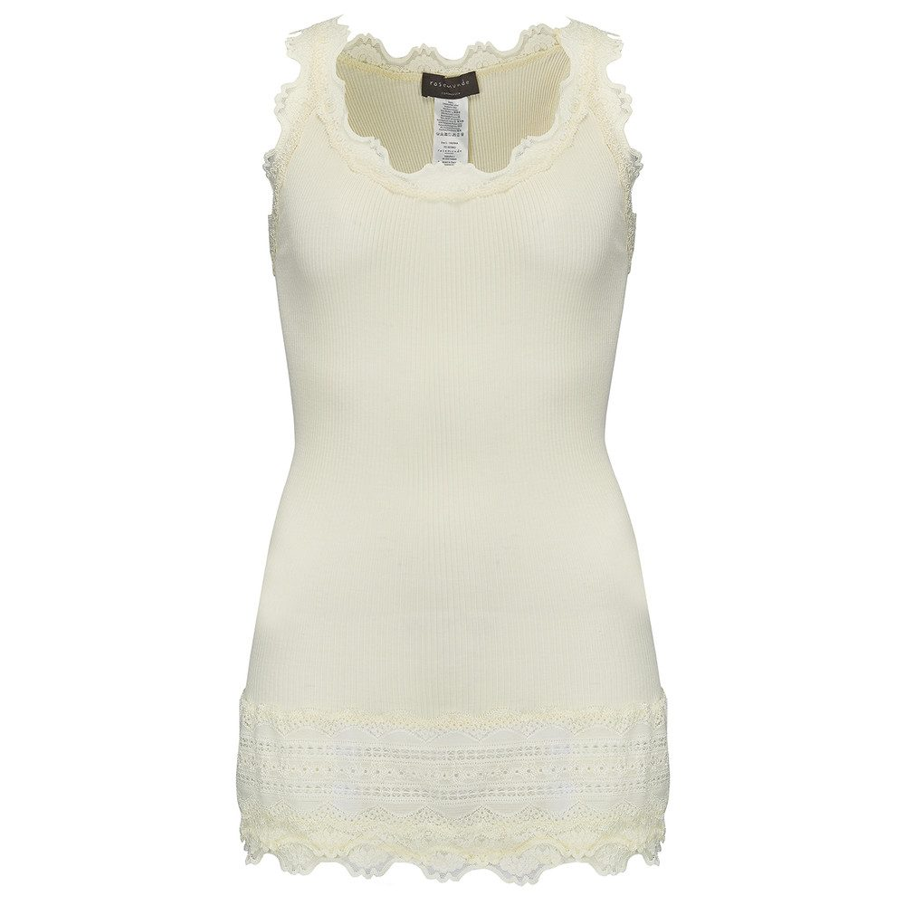 Wide Lace Silk Blend Vest - Lemon Icing