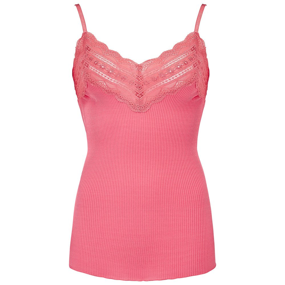 Wide Lace Strap Top - Desert Rose
