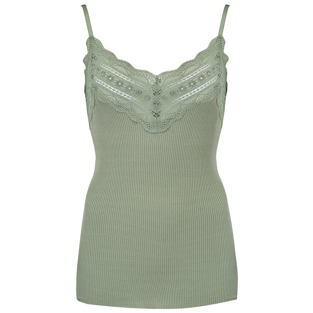 Wide Lace Strap Top - Sea Spray