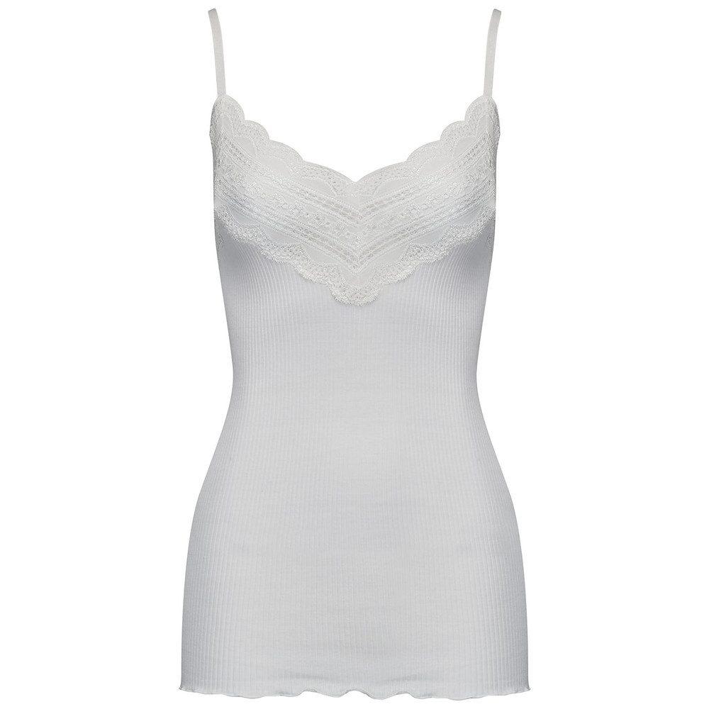 Wide Lace Strap Top - White