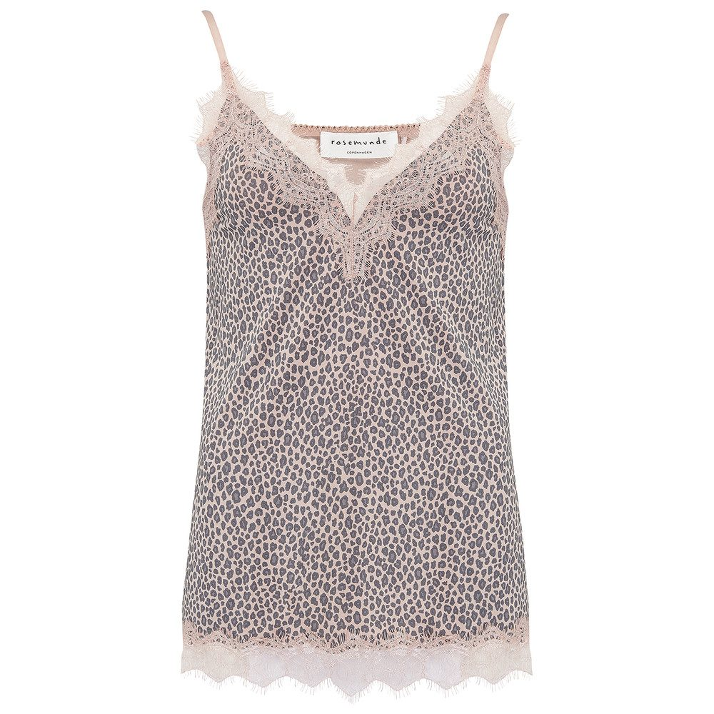 Vintage Lace Strap Top - Rose Leopard