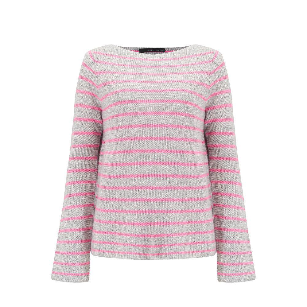 Faye Striped Cashmere Jumper - Grey & Bubble