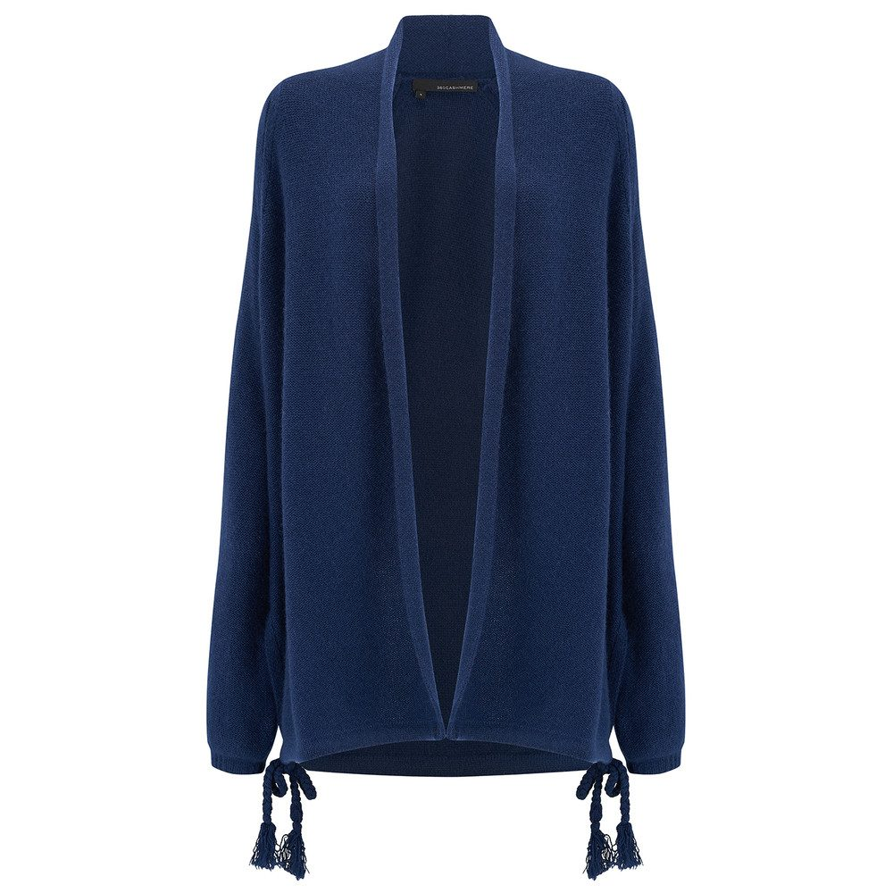 Ida Long Cashmere Cardigan - Navy