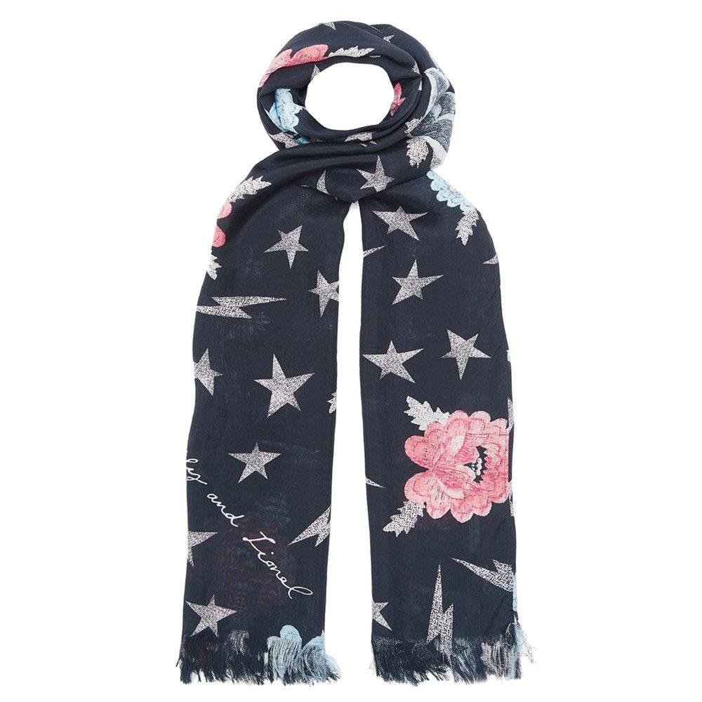 Stardust Silk Scarf - Black