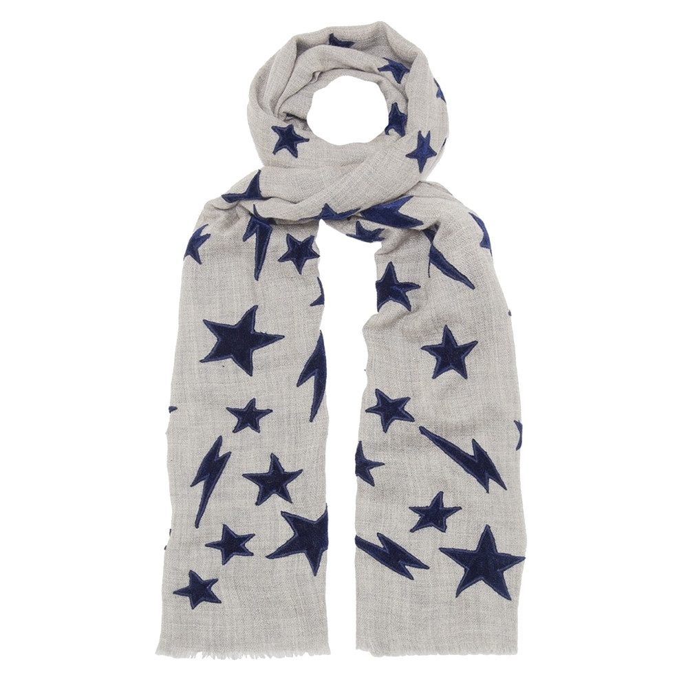 Let There Be Light Scarf - Grey & Navy