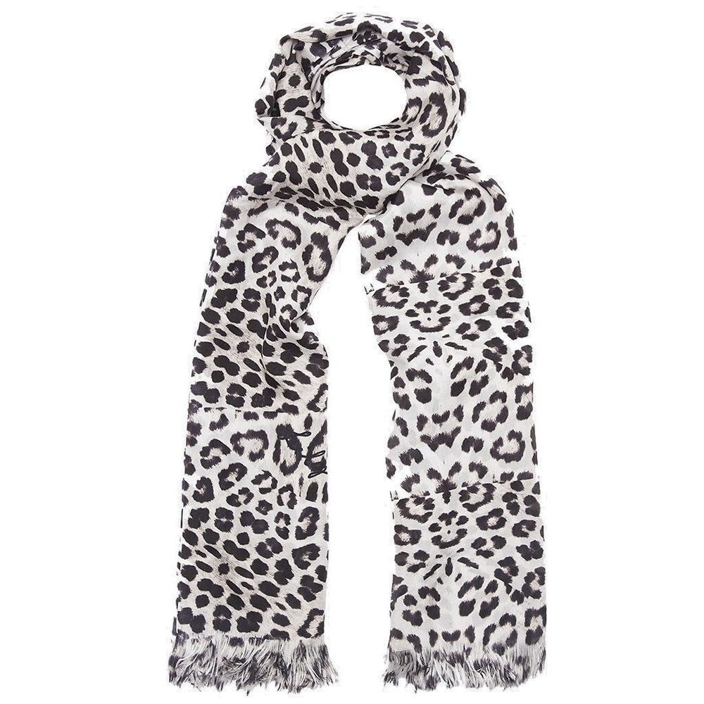 Big Cat Silk Scarf - Natural