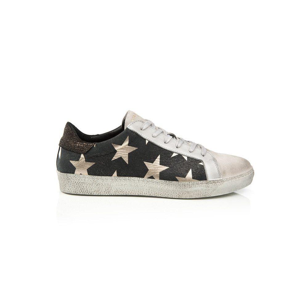 PRE ORDER Cru Trainer - Black & Light Gold Star Print