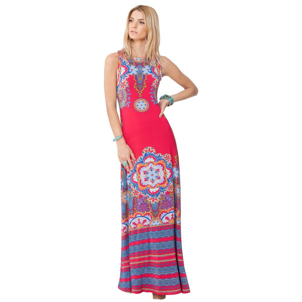 Ravin Maxi Dress - Berry