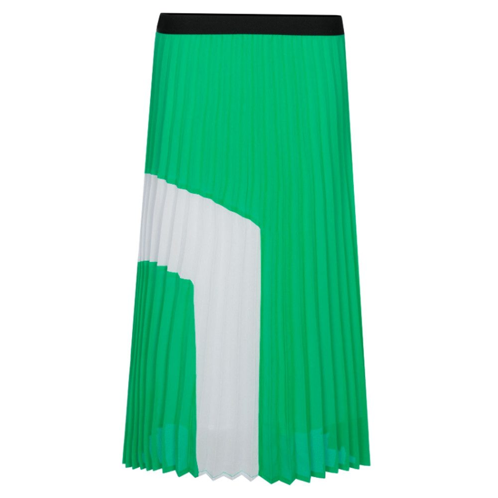 Perridon Pleated Midi Skirt - Cress Juice