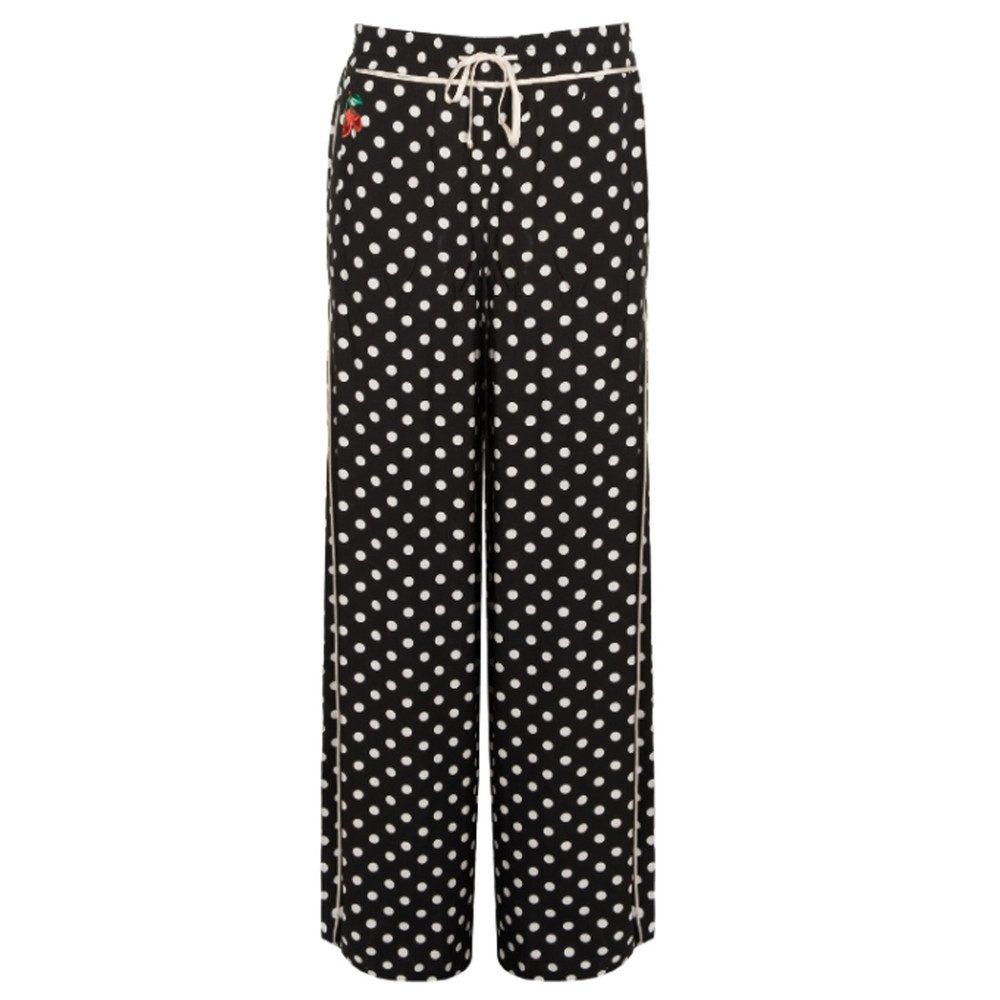 Pinquin Wide Leg Pants - Black