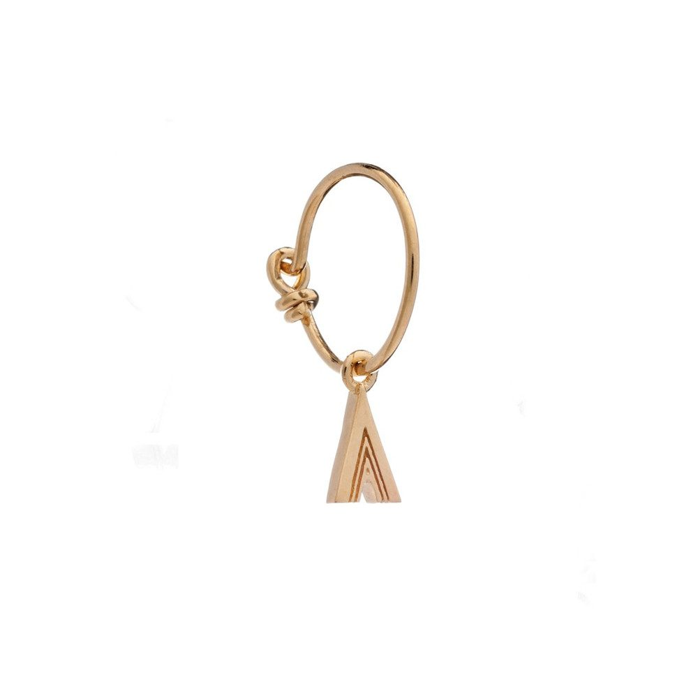 This is Me Gold Mini Hoop Earring - Letter A