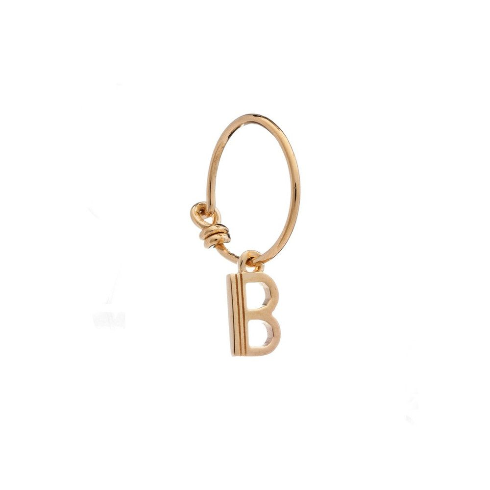 This is Me Gold Mini Hoop Earring - Letter B