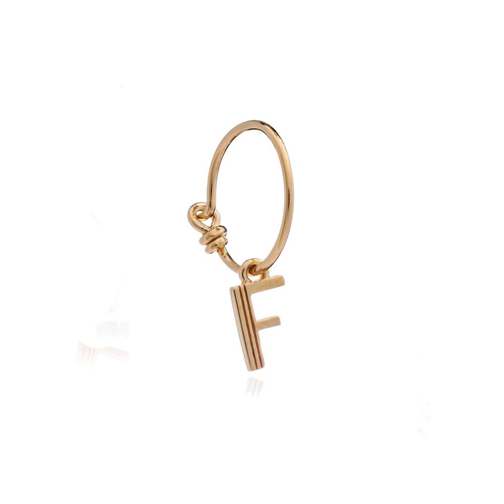 This is Me Gold Mini Hoop Earring - Letter F