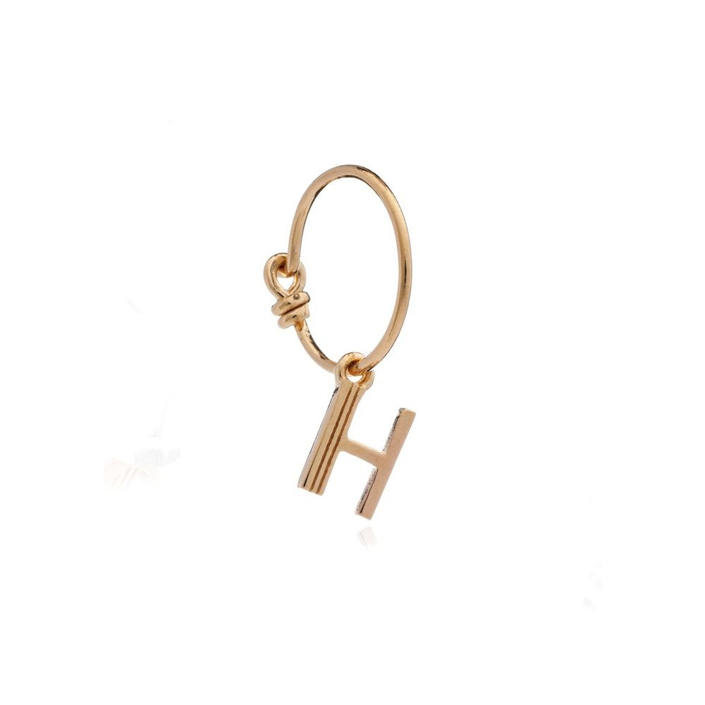 This is Me Gold Mini Hoop Earring - Letter H