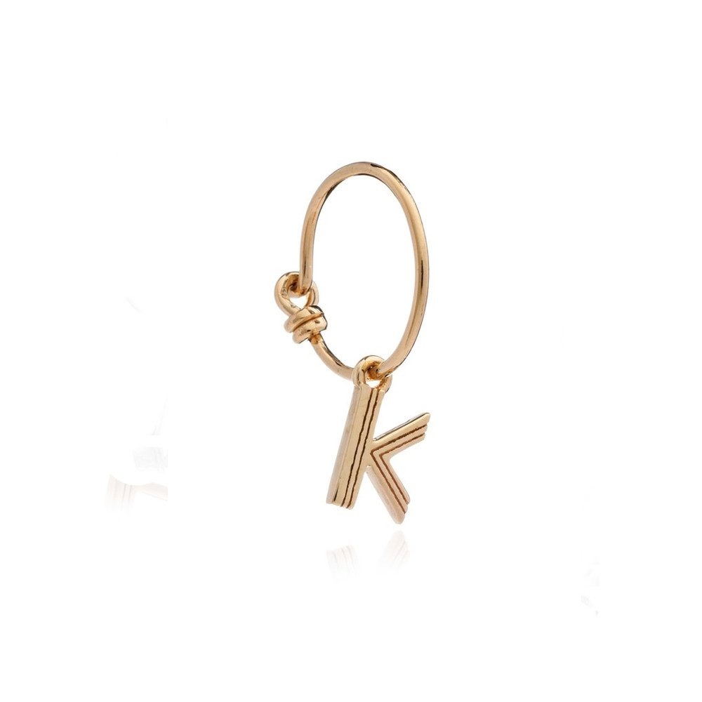 This is Me Gold Mini Hoop Earring - Letter K