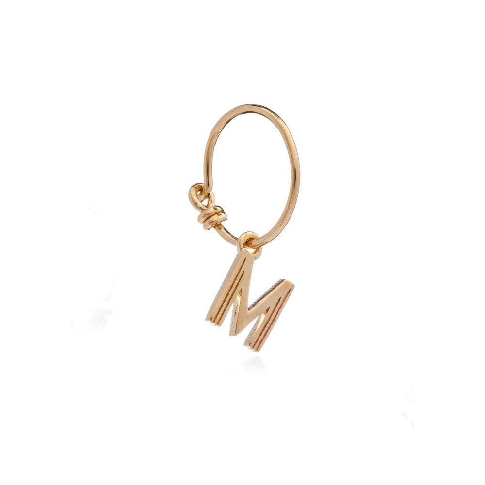 This is Me Gold Mini Hoop Earring - Letter M