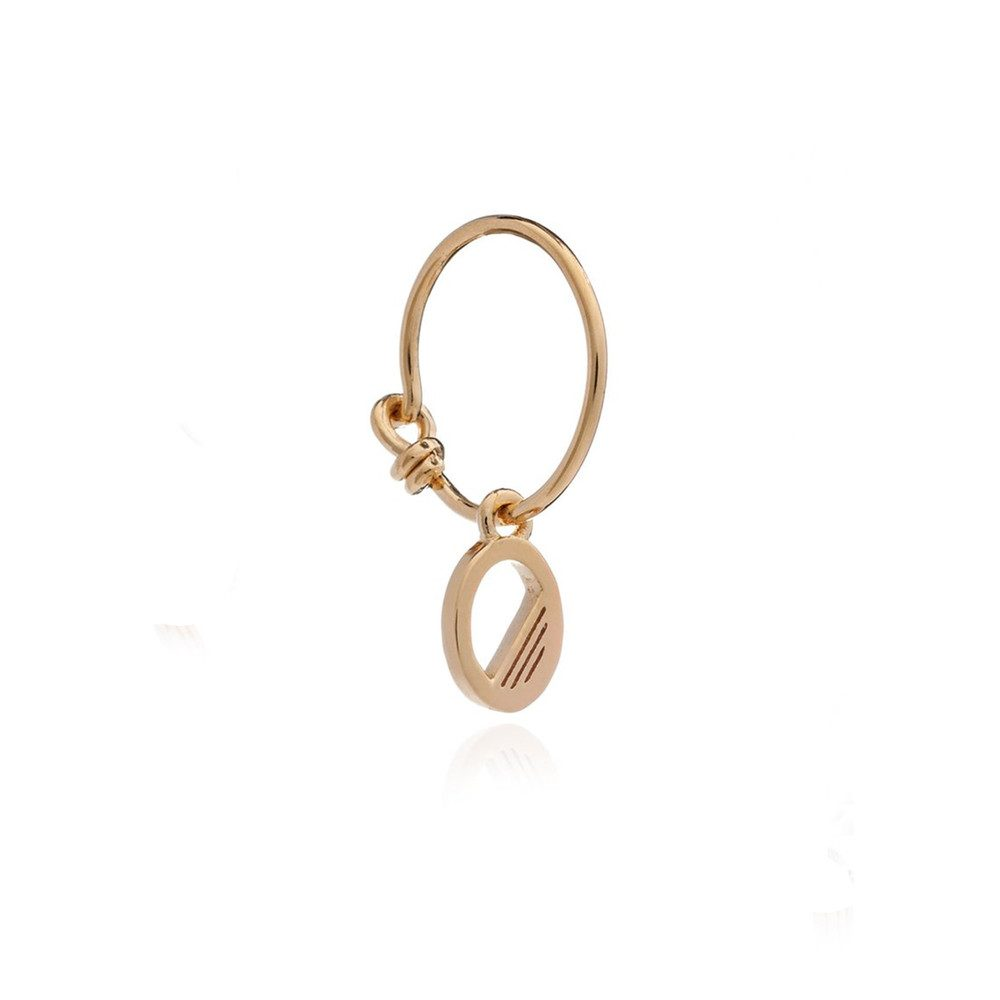 This is Me Gold Mini Hoop Earring - Letter O