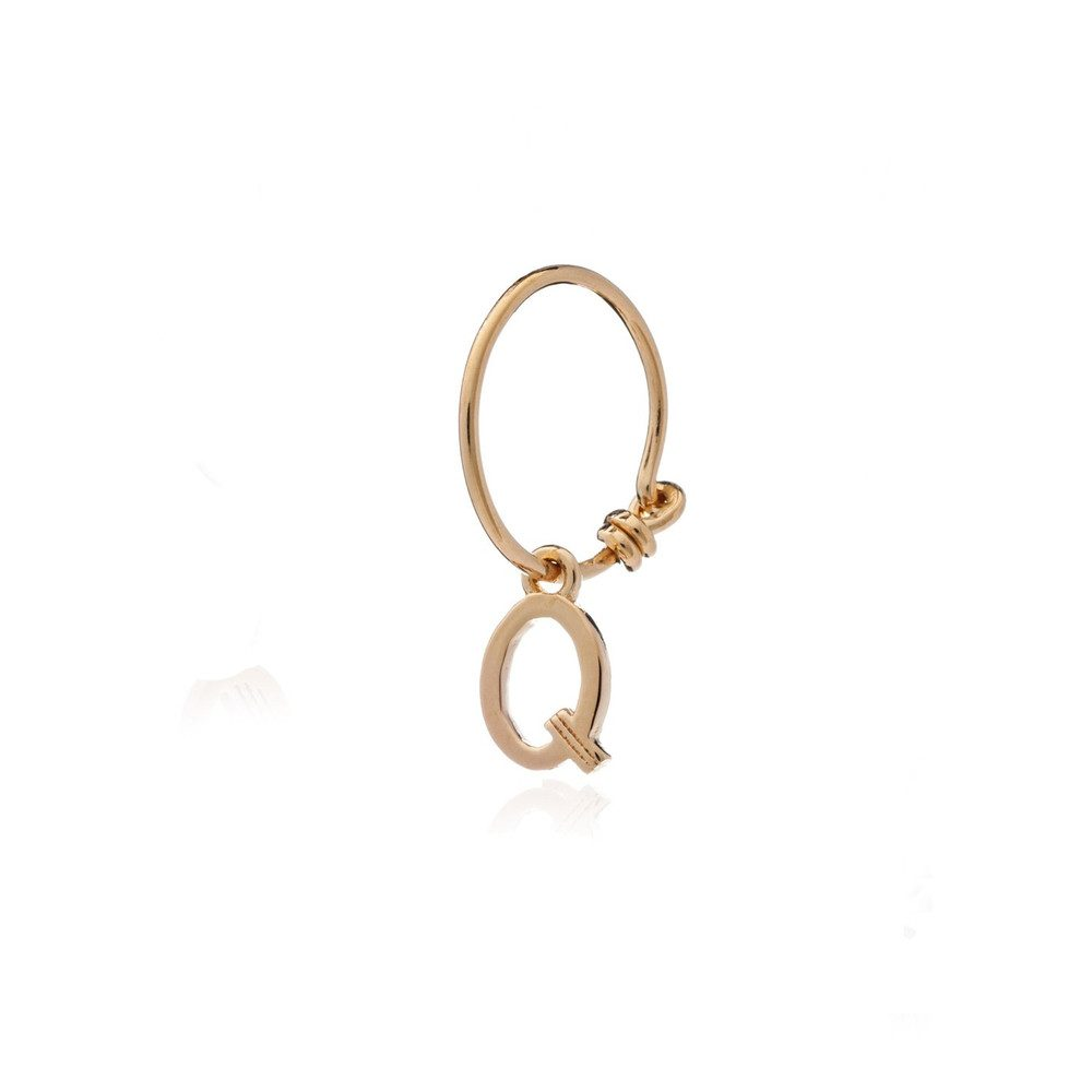 This is Me Gold Mini Hoop Earring - Letter Q
