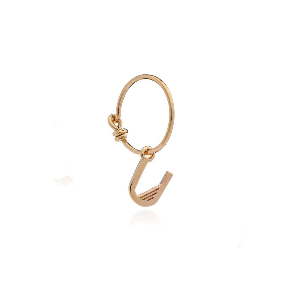 This is Me Gold Mini Hoop Earring - Letter U