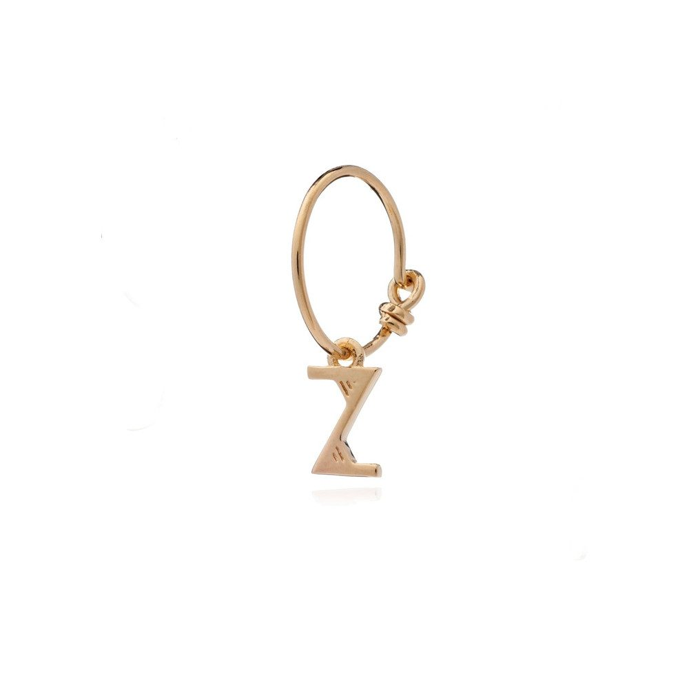 This is Me Gold Mini Hoop Earring - Letter Z