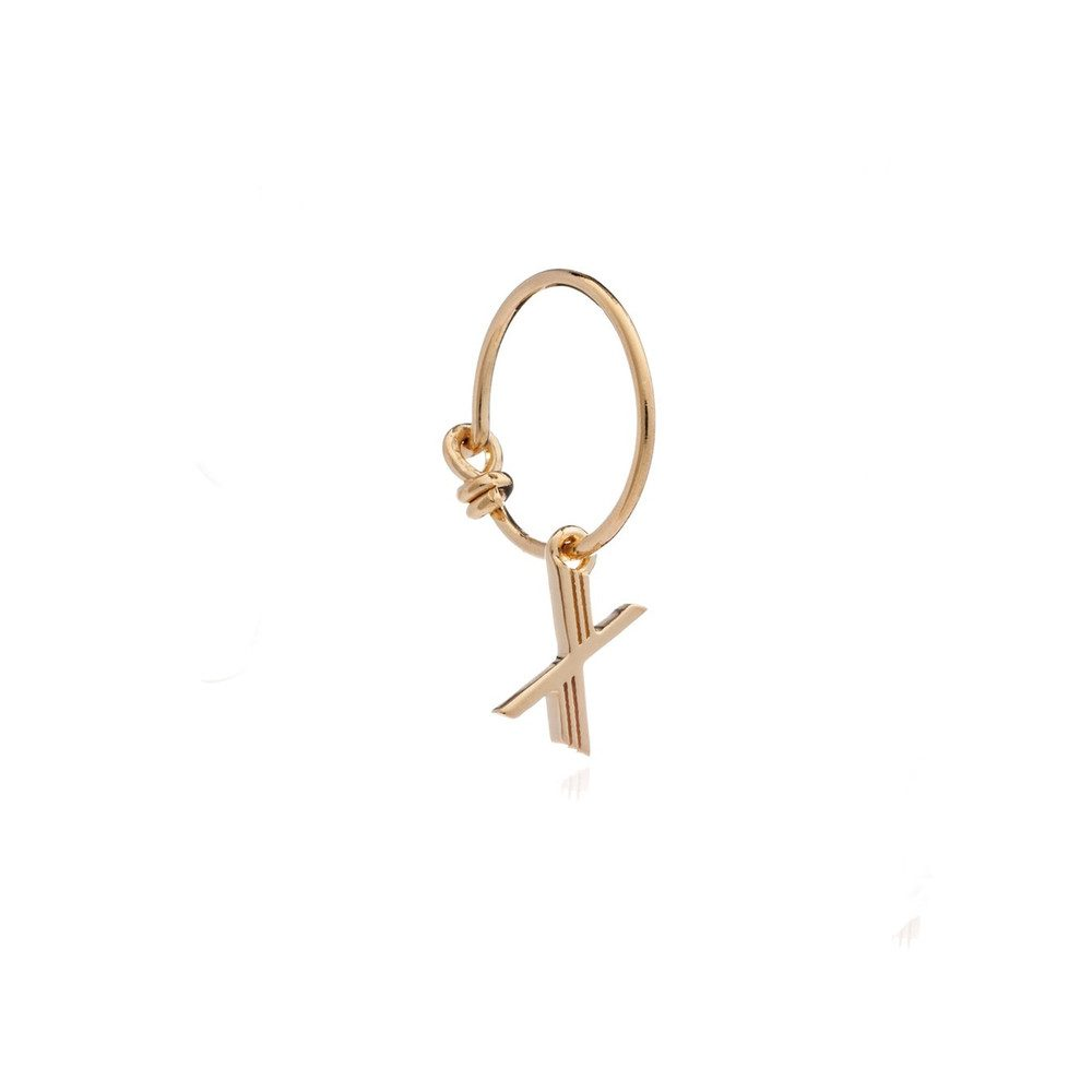 This is Me Gold Mini Hoop Earring - Letter X