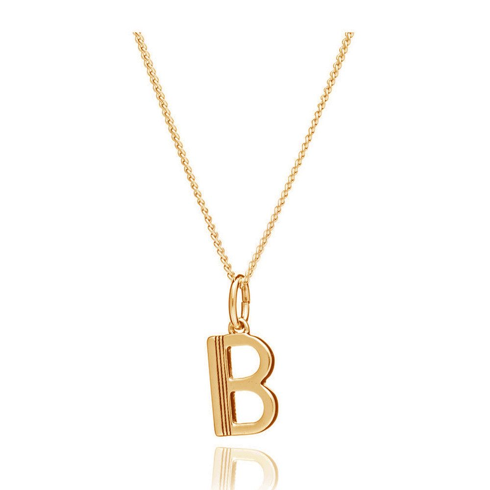 This Is Me 'B' Alphabet Necklace - Gold