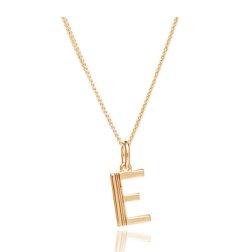 This Is Me 'E' Alphabet Necklace - Gold