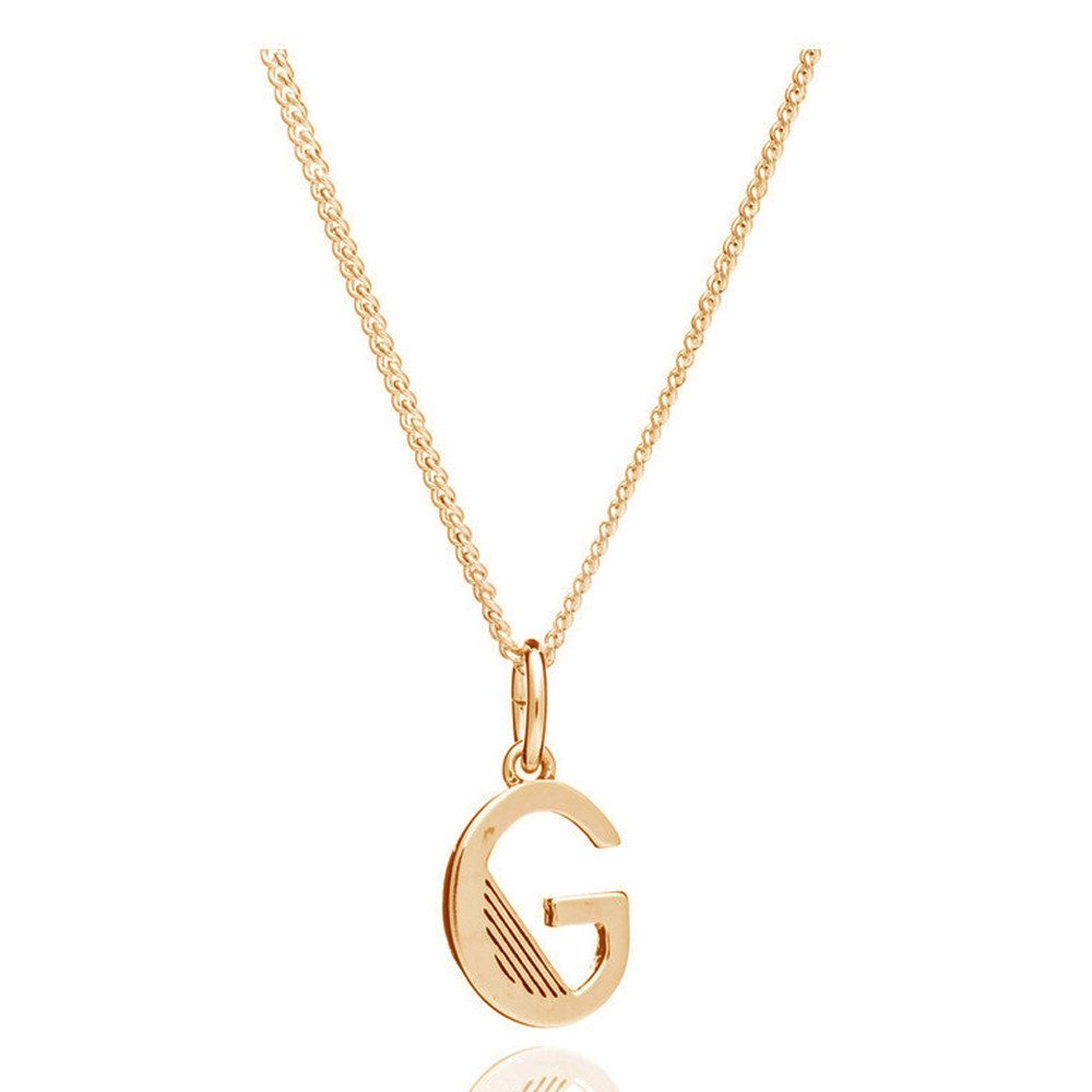 This Is Me 'G' Alphabet Necklace - Gold