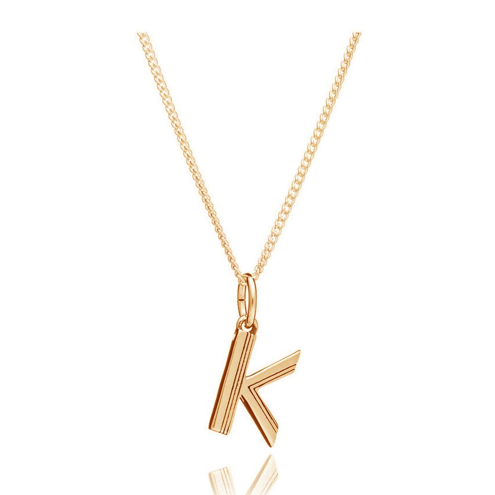 This Is Me 'K' Alphabet Necklace - Gold