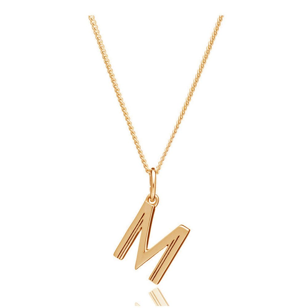 This Is Me 'M' Alphabet Necklace - Gold