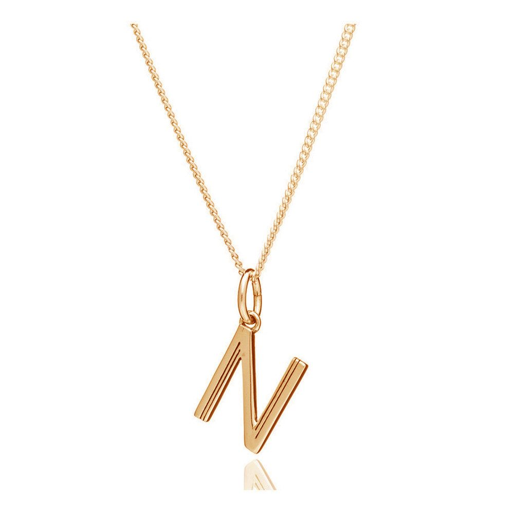 This Is Me 'N' Alphabet Necklace - Gold