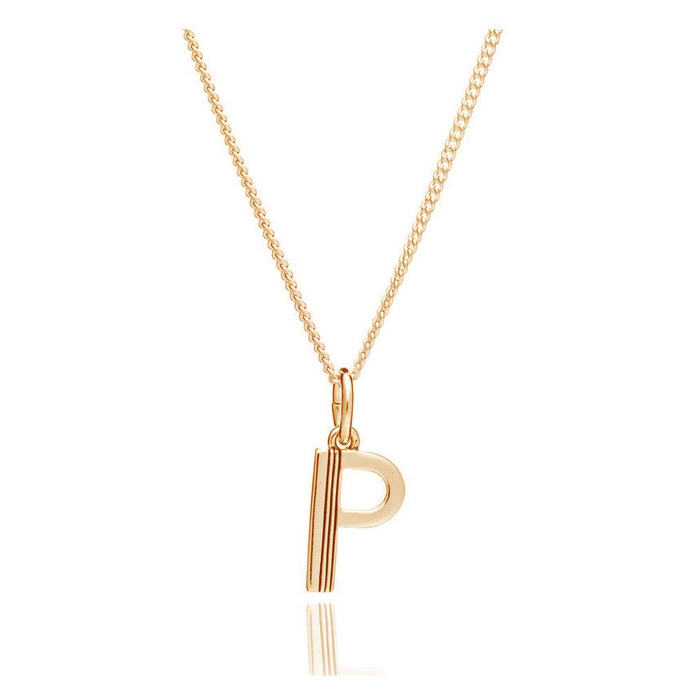 This Is Me 'P' Alphabet Necklace - Gold
