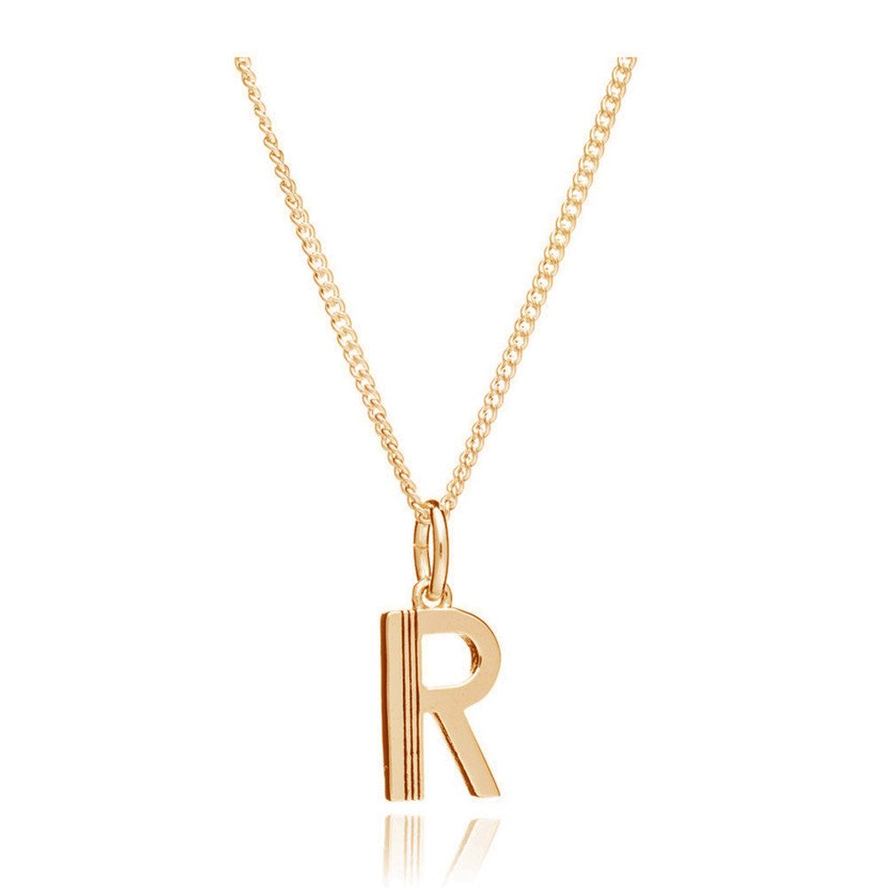 This Is Me 'R' Alphabet Necklace - Gold