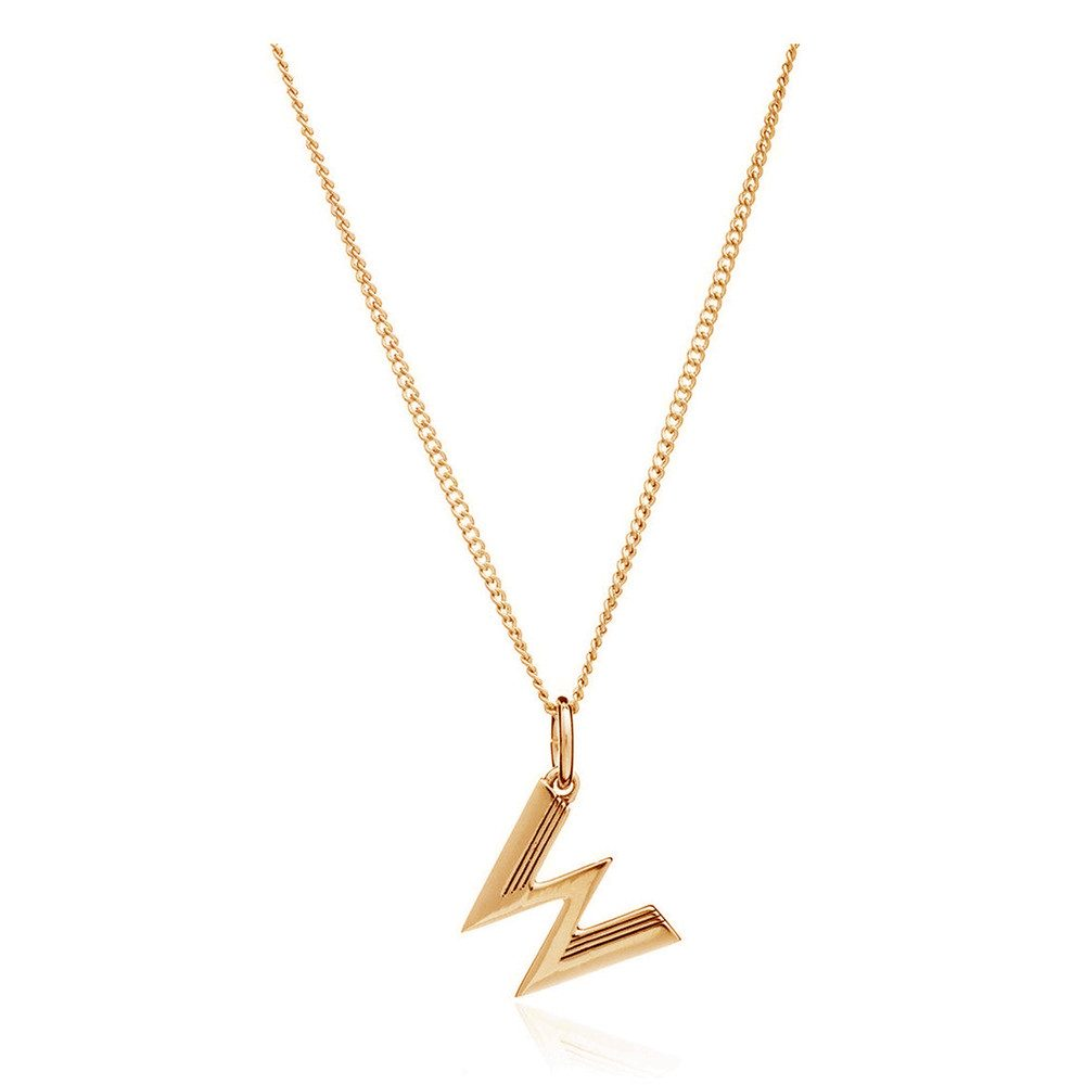 This Is Me 'W' Alphabet Necklace - Gold
