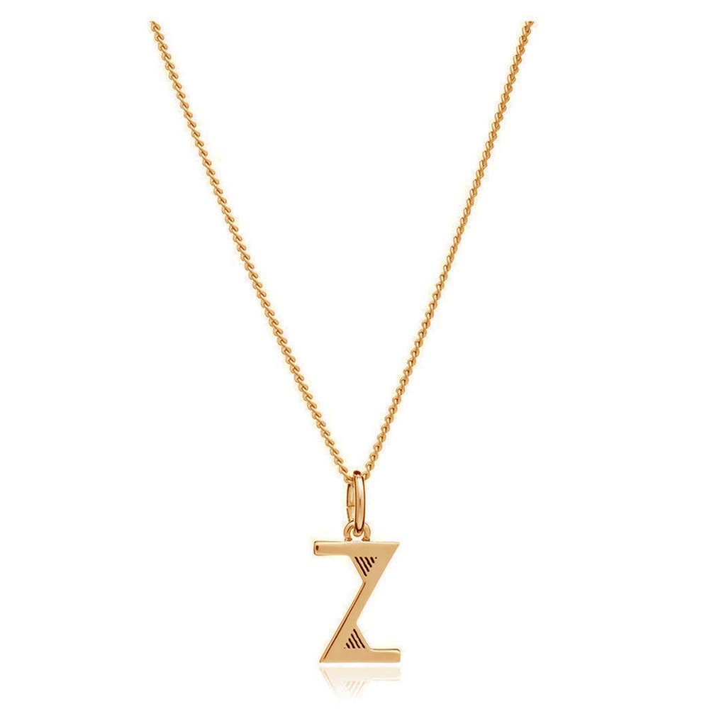 This Is Me 'Z' Alphabet Necklace - Gold
