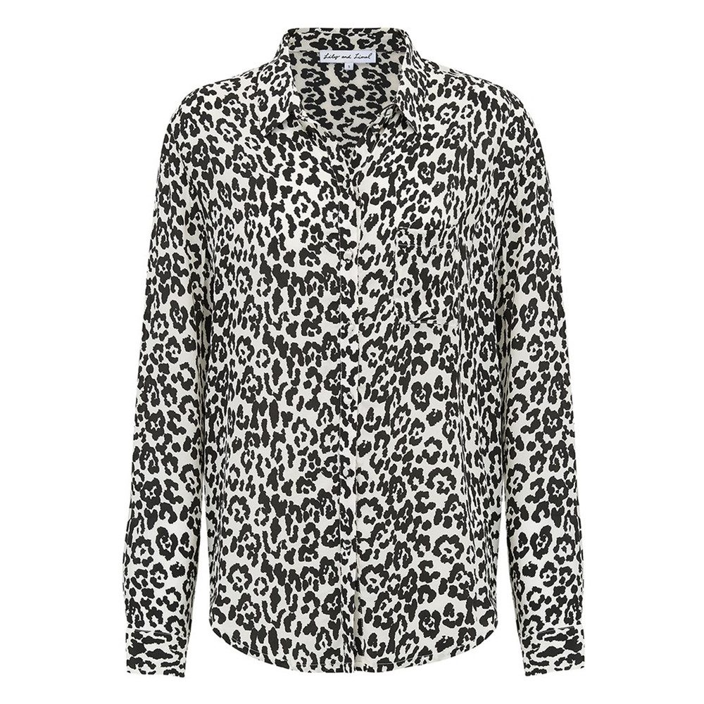 Classic Silk Shirt - Leopard Mono