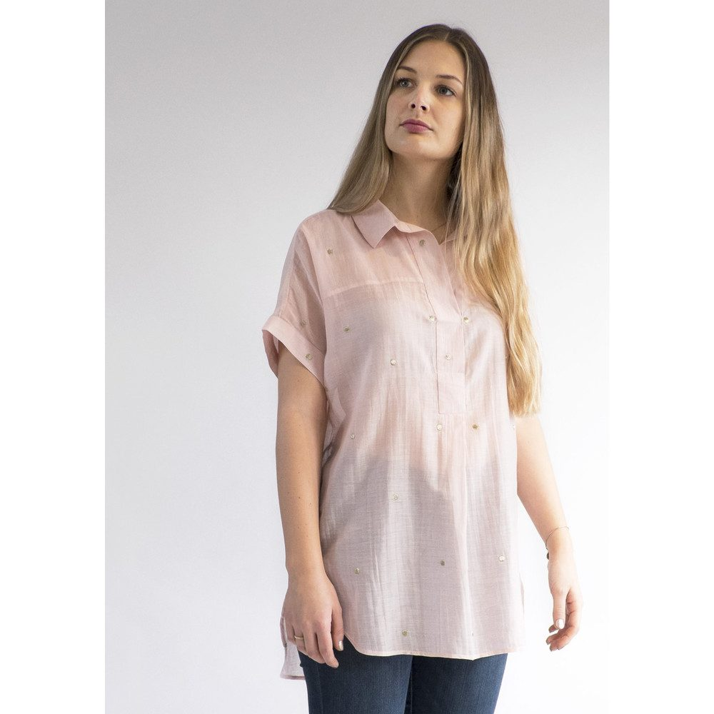 Beatrice Embroidered Shirt - Rose