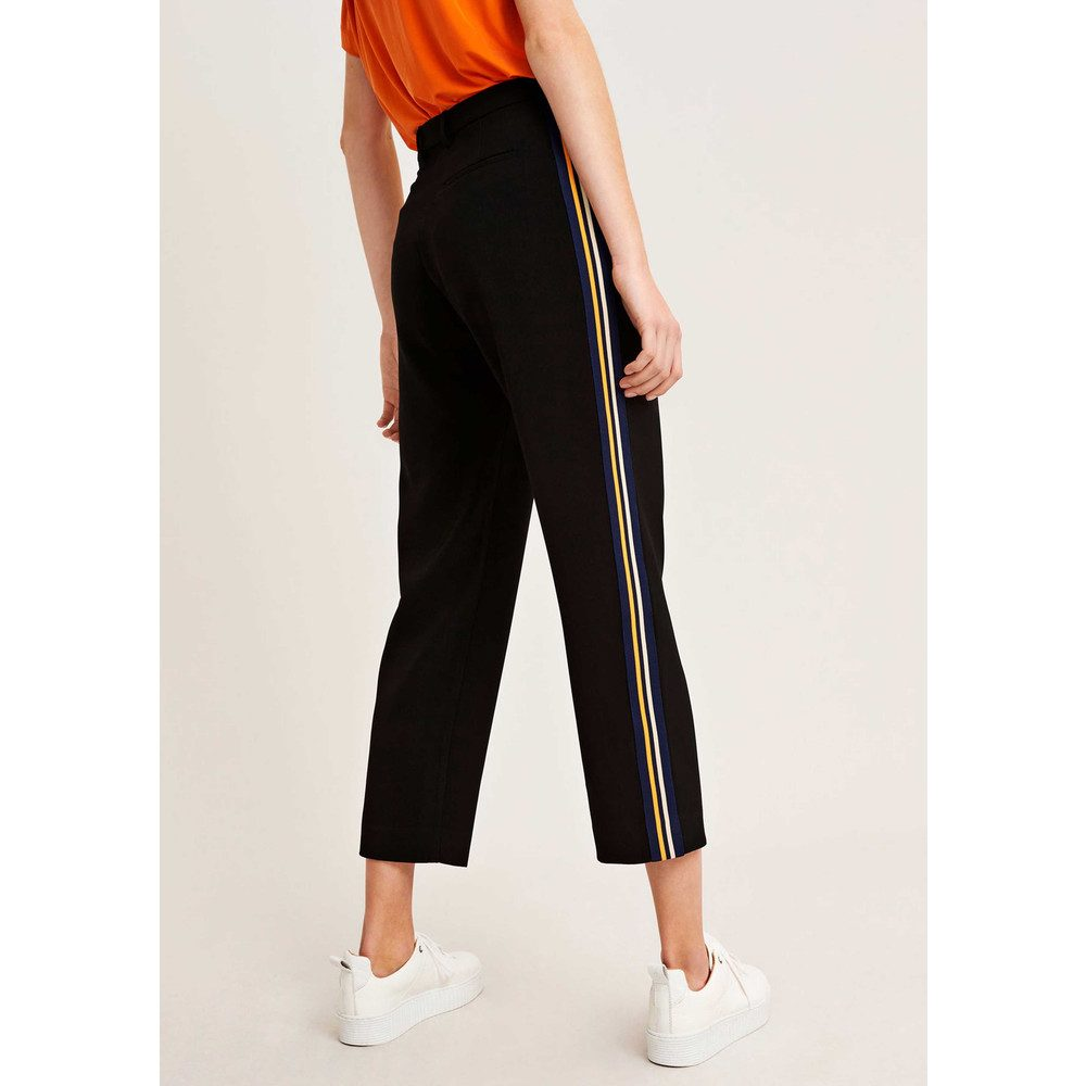 Louisa Crop Pants - Black Puffins