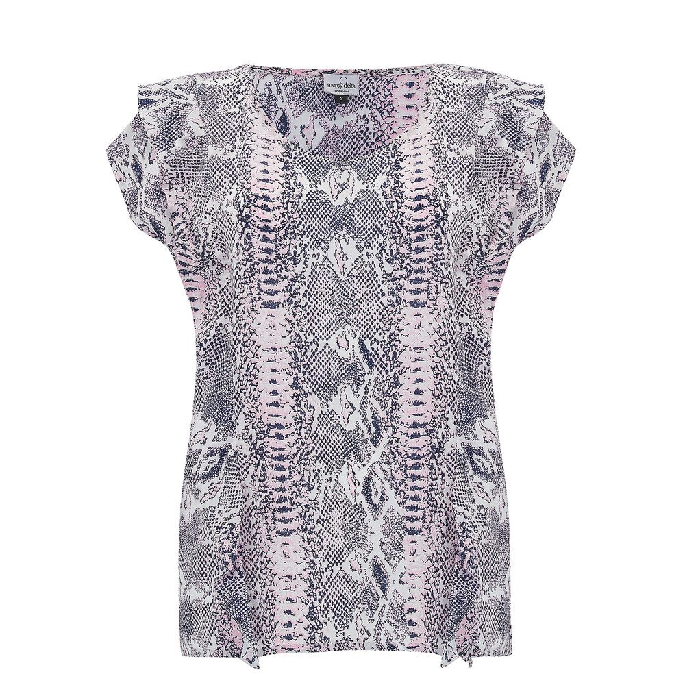 Blenheim Silk Top - Python Rose