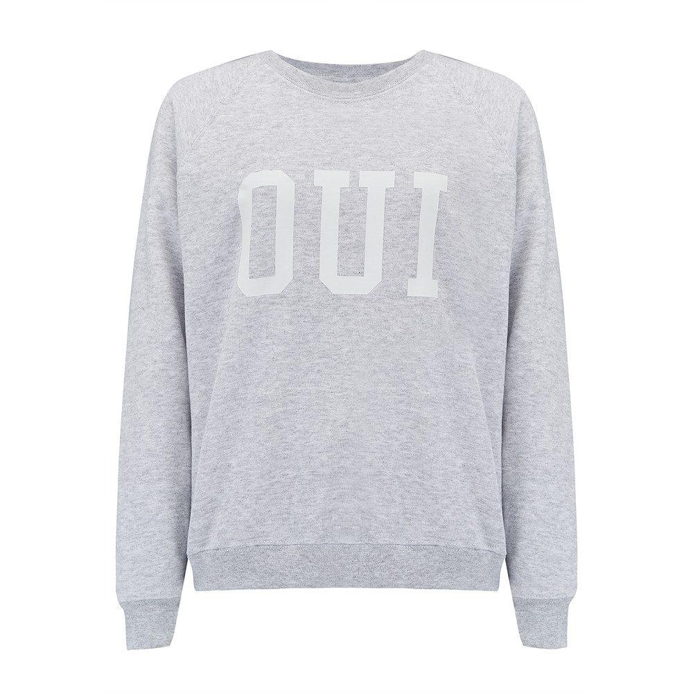 Oui Jumper - Grey & White