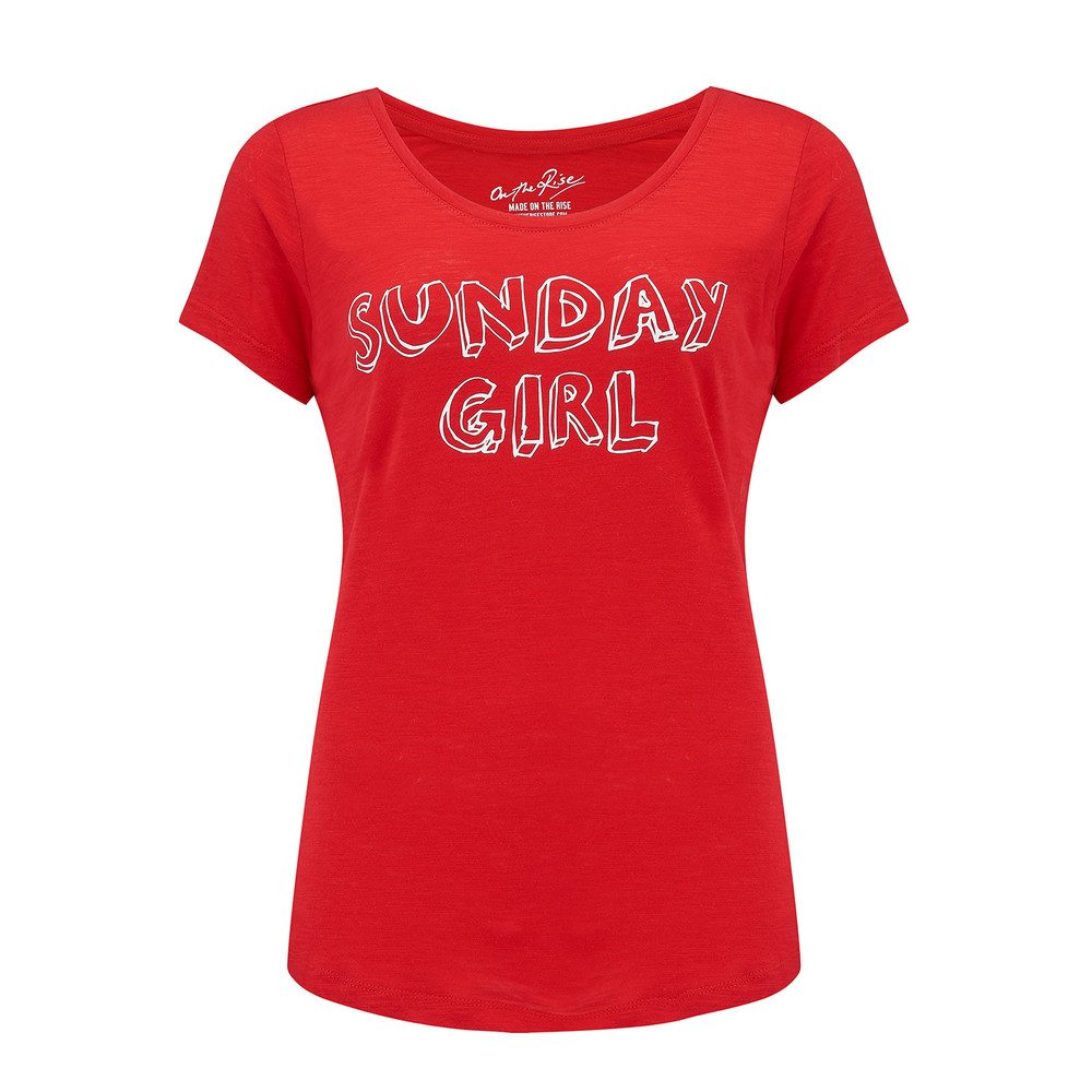 Sunday Girl Tee - Red & White
